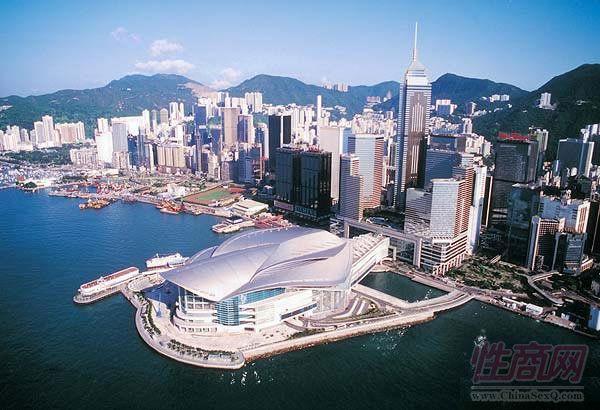 香港会会议展览中心鸟瞰图