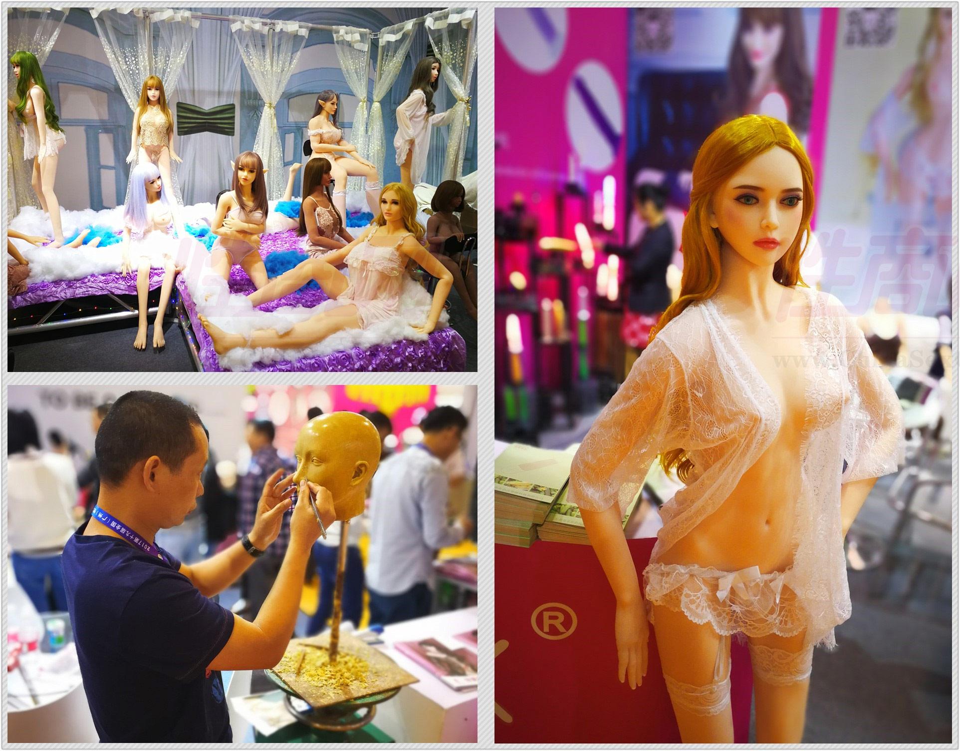 广州性文化节现场的情趣仿真实体娃娃