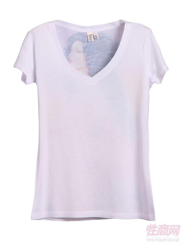 个性手绘图案短袖印花t恤o2042