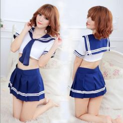 情趣学生装蝴蝶结游戏水手服情趣内衣一件代发