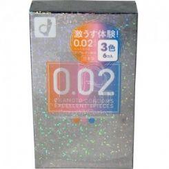 冈本 薄度均一 0.02EX 3-色系 (日本版) 6 片�b