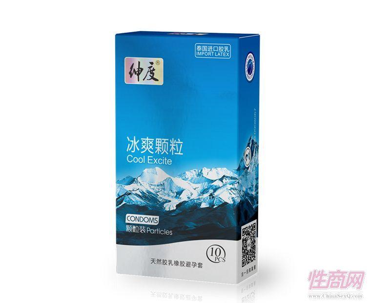 绅度避孕套 非凡系列 冰爽颗粒安全套10支装-安全套