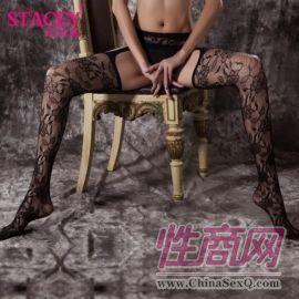 史黛丝黑色玫瑰四面开档情趣丝袜3