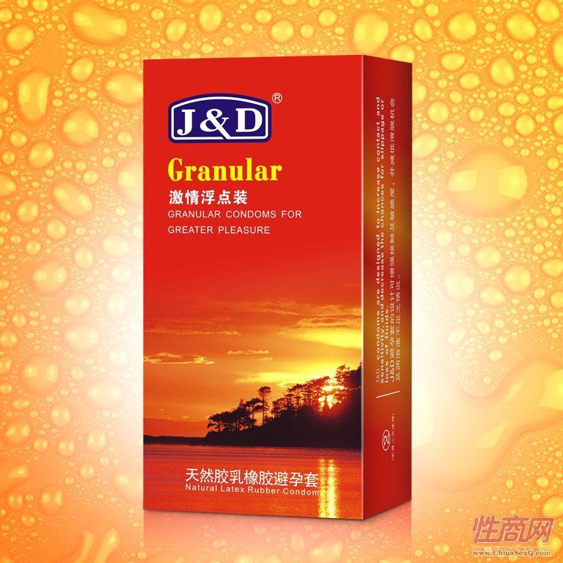 J&D时尚系列10只装激情浮点型避孕套-安全套