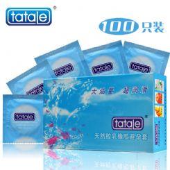 tatale 100只装润滑大油量避孕套-安全套