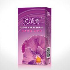 紫罗兰 10只装清幽花语系列避孕套螺纹装