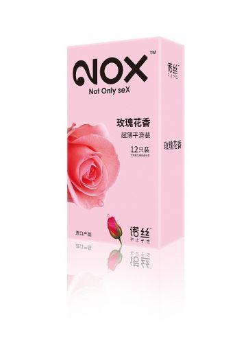 诺丝温莎系列避孕套超薄玫瑰花香12片装