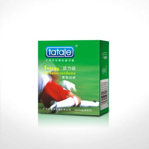 tatale经典系列活力装 水蜜桃 安全套 3只装