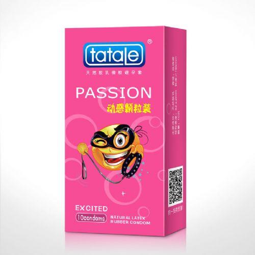 tatale卡通系列动感颗粒装 玫瑰香 安全套