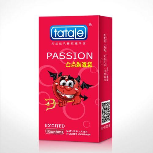 tatale卡通系列凸点刺激装 草莓香 安全套