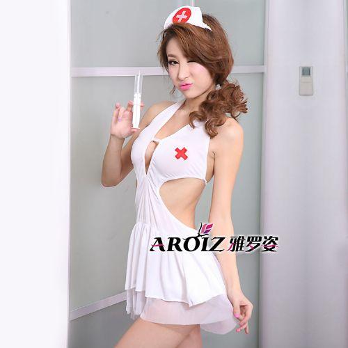 白色撩人护士裙