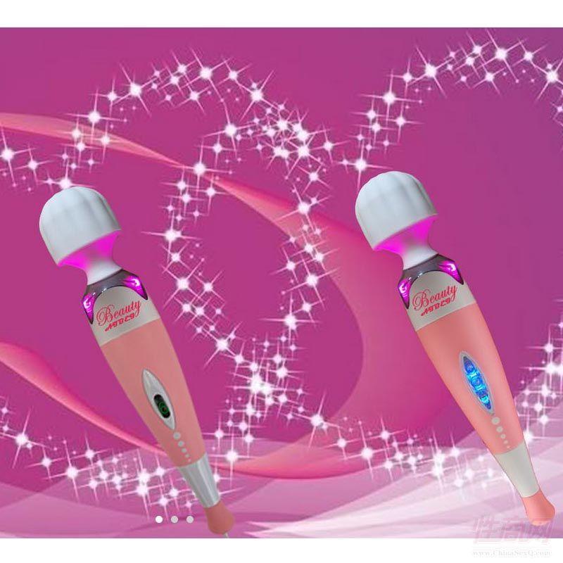 成人用品女用硅胶LED振动棒超大力度AV按摩棒跨境专供优质厂家