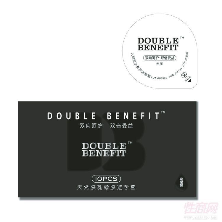 DOUBLE DOUBLE(DO)玻尿酸天然乳胶橡胶避孕套-安全套