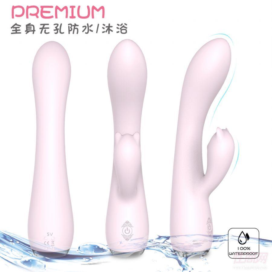 成人情趣情趣用品女用自慰器USB充电双头震动按摩棒厂家批发3