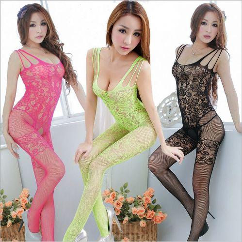 外贸情趣内衣套装连体丝网袜性感修身大码诱惑网衣