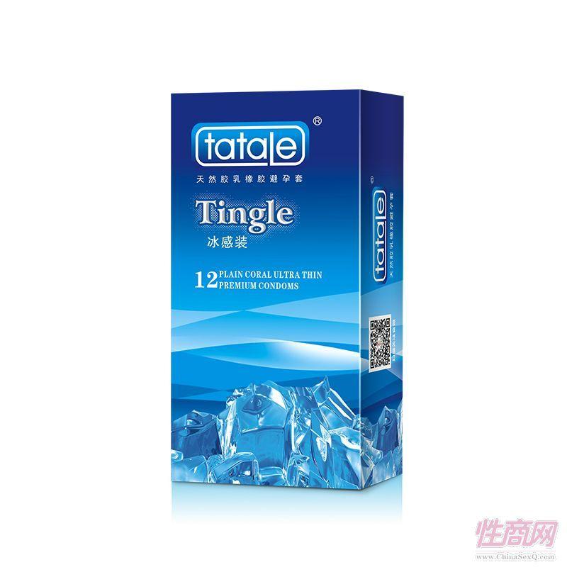 tatale冰火系列 冰感装 12只装  安全套 避孕套