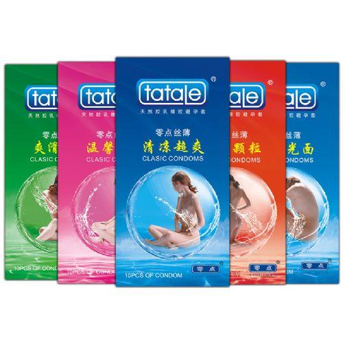 tatale零点系列 安全套 纤薄 颗粒