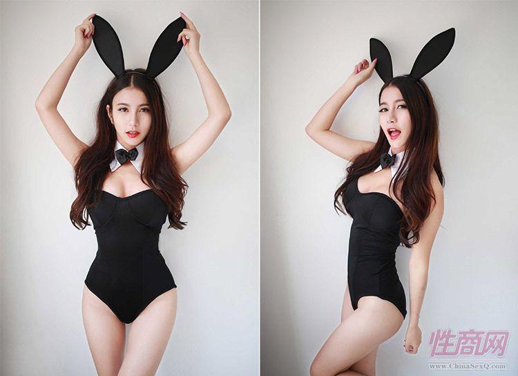 深V性感情趣内衣可爱兔女猫连体紧身兔子豹纹套装代发