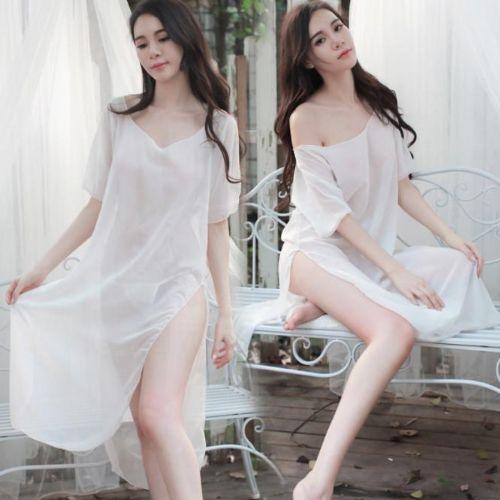 性感大码情趣内衣服网纱睡裙透明蕾丝旗袍激情睡衣套装宽松制服