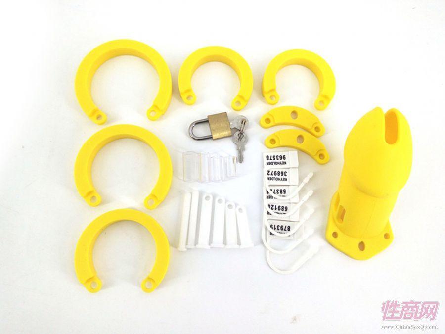 唯有度RODE硅胶黄色男性鸟笼自慰器贞锁外出锁成人情趣性道具3
