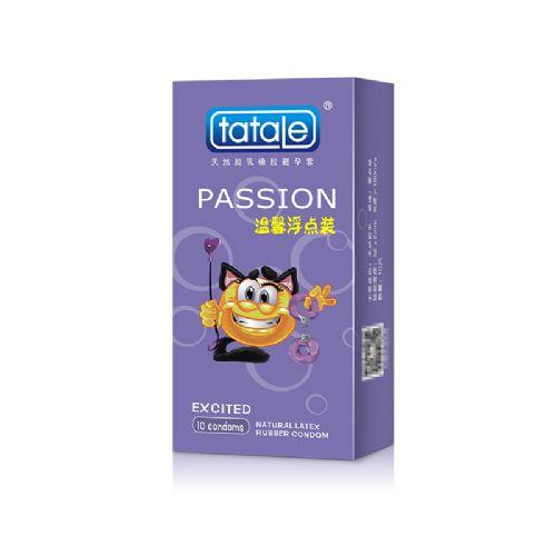 tatale 10只装卡通系列温馨浮点避孕套-安全套
