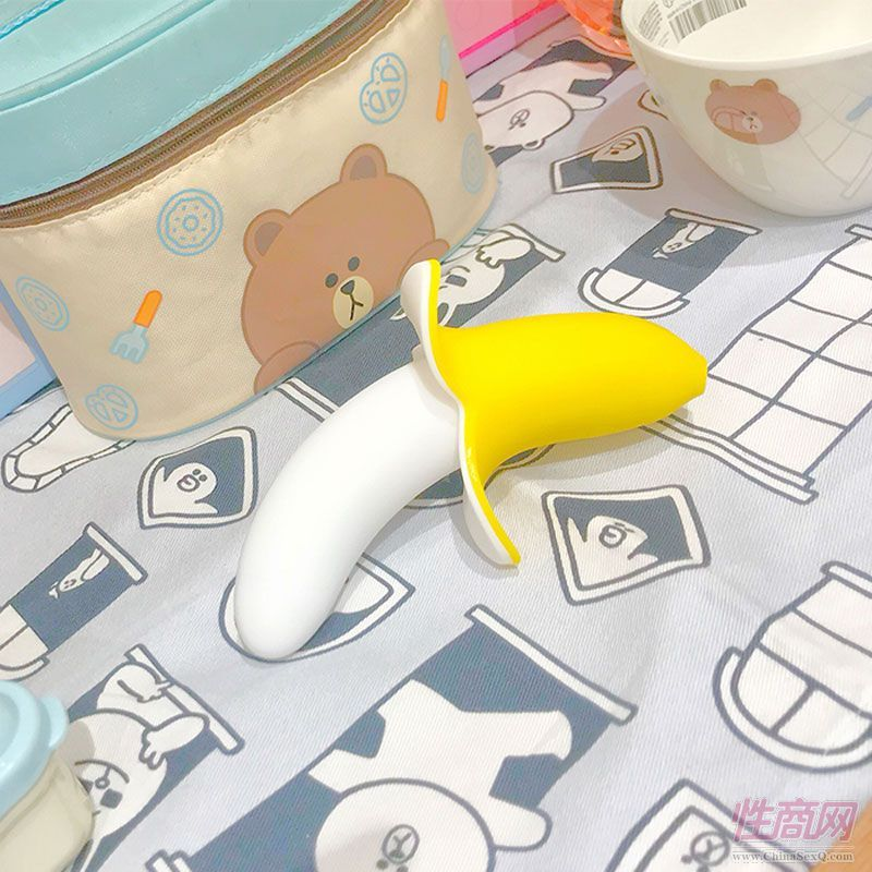 歪歪马香蕉震动棒女用静音震动仿真情趣玩具振动棒多频防水按摩棒