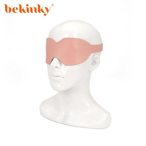 Bekink 必情趣 SM情趣眼罩 成人用品软皮革眼罩 粉色