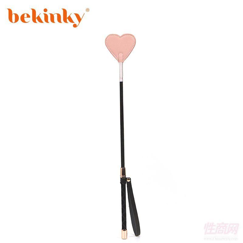 Bekink 必情趣 软皮革心形马鞭拍子 SM情趣成人用品