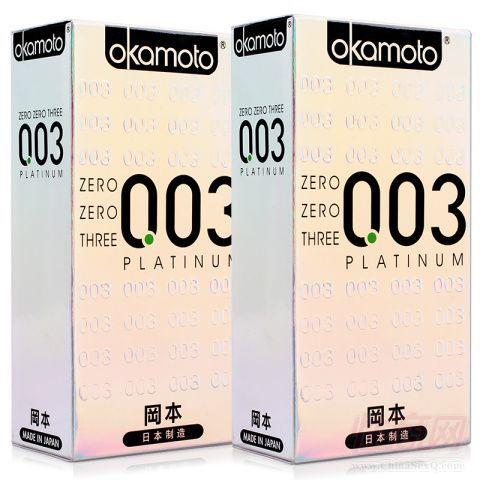 冈本(Okamoto)003白金超薄10只装