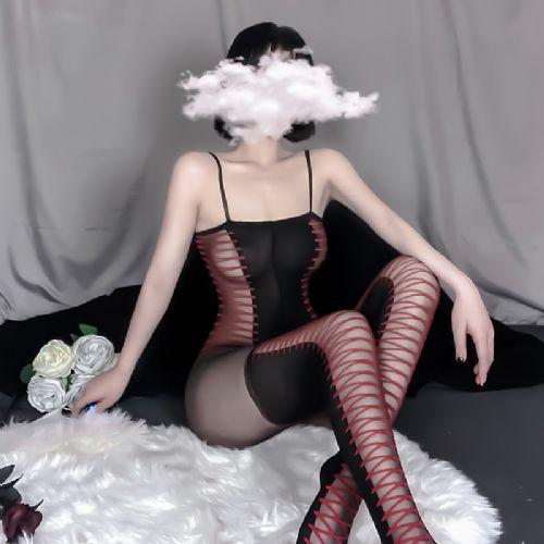 情趣内衣女式吊带透明紧身连体网衣情趣丝袜 情趣用品代理加盟