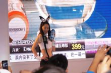 女模特身着可爱兔子情趣服