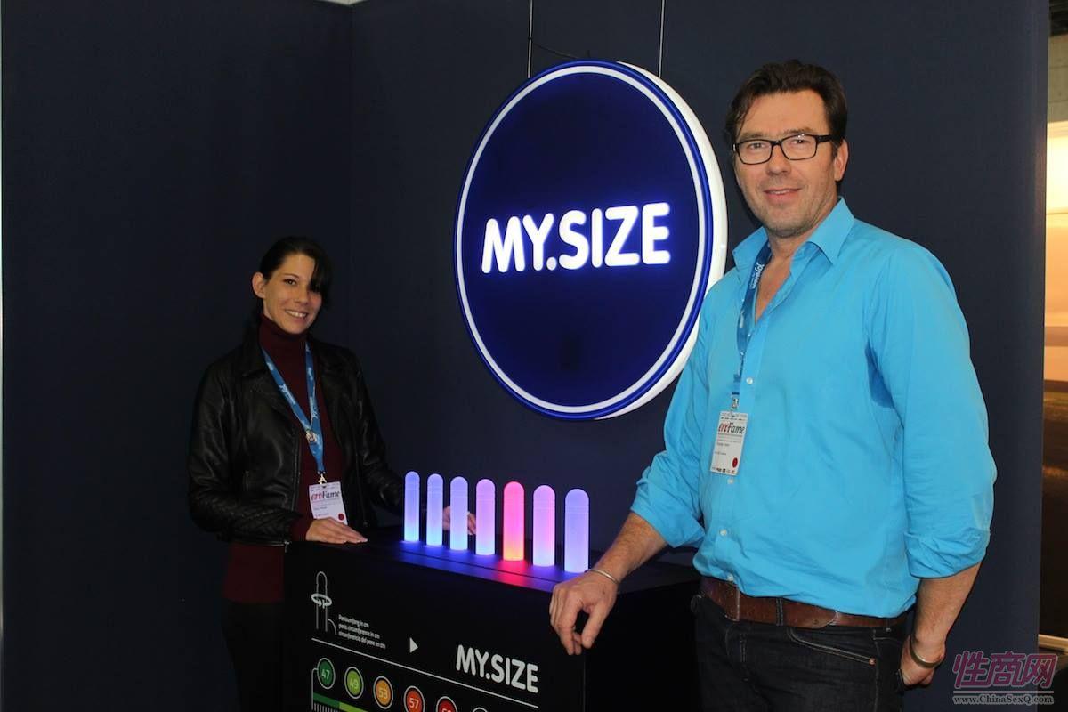 MySize展台,工作人员很有型