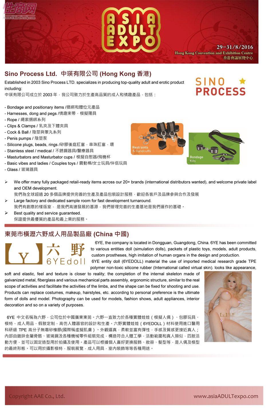 2016年亚洲成人博览AAE(香港)参展企业图片3