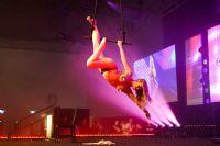 丰腴的专业舞蹈演员半luo身体表演高空舞蹈