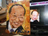 小弟弟画家的新作品:台中市长胡志强的肖像画