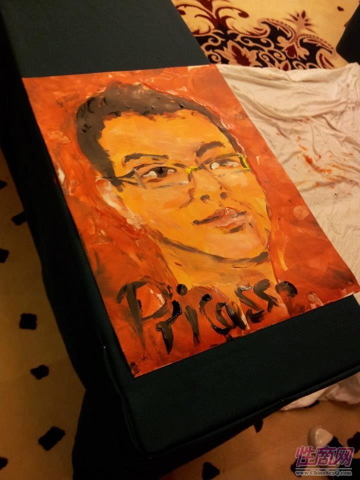 2012台湾亚洲成人博览惊现小弟弟油画家图片13