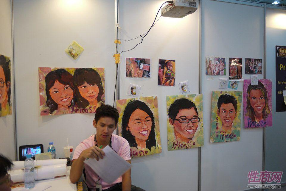 2012台湾亚洲成人博览惊现小弟弟油画家图片16