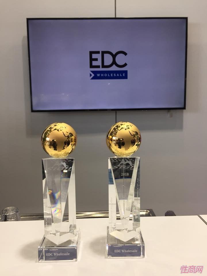 EDC组委会颁发的获得两项行业大奖
