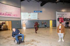 有残疾人士也来到展会现场