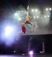高难度的舞蹈表演让现场观众大饱眼福