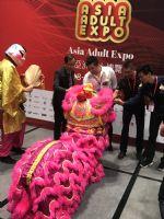 亚洲成人博览嘉宾为舞狮点睛