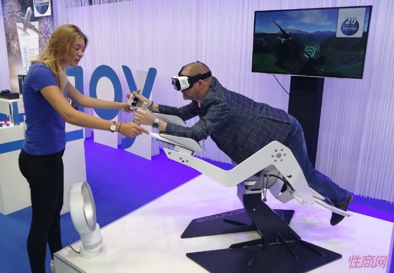 JoyDivision展区的VR体感游戏