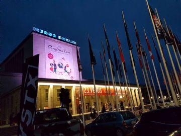 柏林成人展场馆夜景