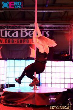 舞会上,观众体验钢管舞 (3)
