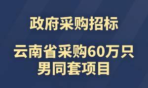 截止8月26日!云南省(二次)采购60万只男同套项目