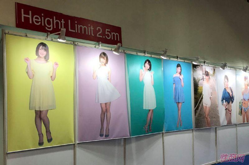 日本女优嘉宾大幅户外广告