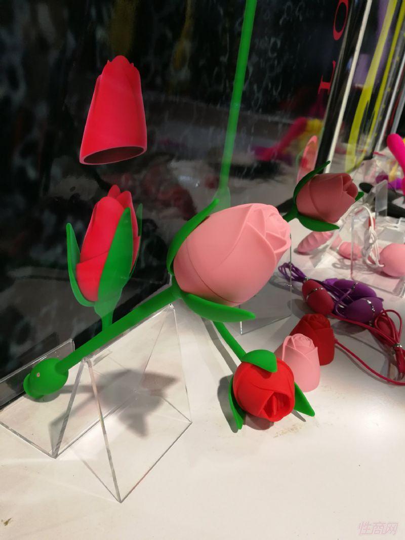玫瑰花外形的女用玩具