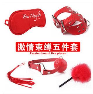 成人情趣用品加盟批发另类玩具眼罩皮鞭束缚五件套