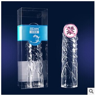 取悦神龙套水晶刺套 龙根套 震动加长加大加粗外用避孕套情趣用品