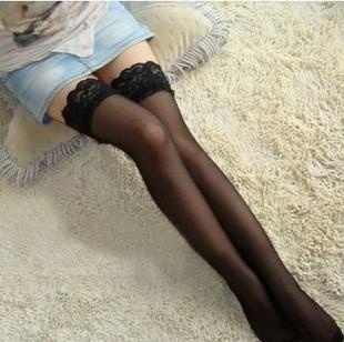女士情趣内衣 超薄蕾丝花边性感网袜 长筒网袜 批发